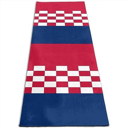 Amazon.com: Croatia Flag Pattern Printed Yoga Mat Prana Yoga ...