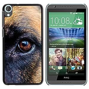 PC/Aluminum Funda Carcasa protectora para HTC Desire 820 German Shepherd Eye Brown Dog / JUSTGO PHONE PROTECTOR