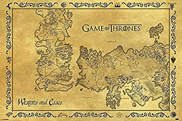 Amazon De Game Of Thrones Poster Westeros Essos Karte Antik