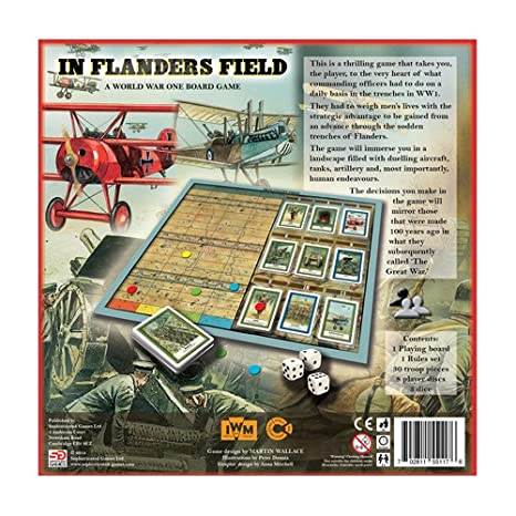 In Flanders Field Board Game Made in Conjunction with the Imperial War Museum
