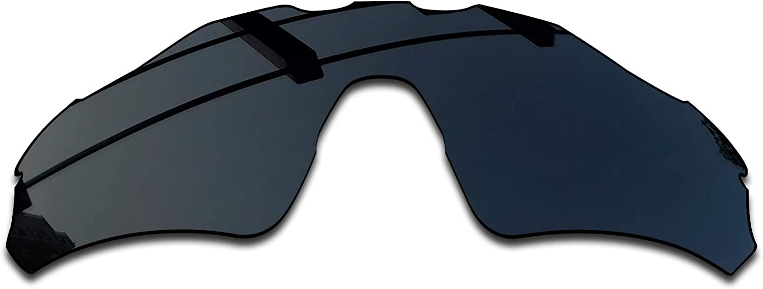 SEEABLE Premium Polarized Mirror Replacement Lenses for Oakley Radar EV Path OO9208 Sunglasses - Dark Black