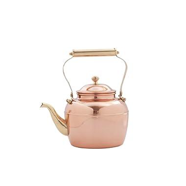 Old Dutch 887 Teakettle, 2½ Qt, Copper, Brass