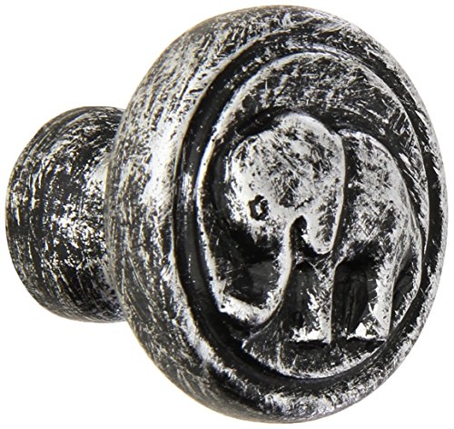 Jungle Drawer Pulls - Siro Designs SD100-158 Elephant Knob, 1.9-Inch, Antique Silver