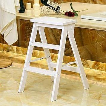 GOG Taburete, escalera plegable Taburetes Escaleras Escalera en espiga multifunción Mobile Ascend Muebles estables,Blanco: Amazon.es: Bricolaje y herramientas