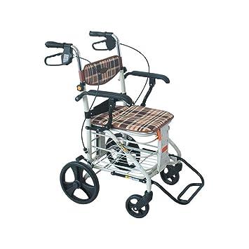 Flashing Old Man Trolley Carrito de la Compra Plegable Simple Wheelchair Leisure Walking Auxiliar Walker: Amazon.es: Hogar