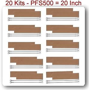 (20 Kits)(REPLACEMENT ELEMENTS FOR IMPULSE SEALER PFS-500 (20 Heating Elements+20Teflon)