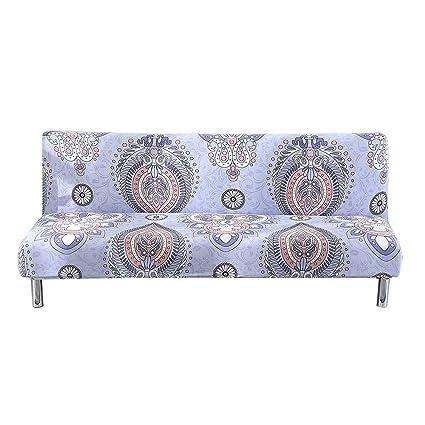 Amazon.com: Eleoption - Fundas de sofá sin brazos de tela ...