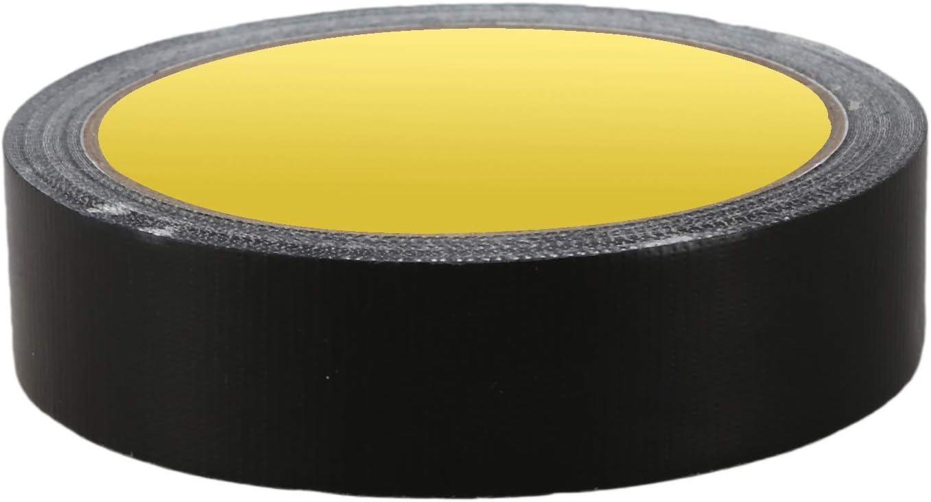 Nrpfell Cinta Adhesiva Cinta De Tela Adhesiva Impermeable Para Sellado Del Calzado Color Del Conducto 25Mm X 10M Negro Tama?o