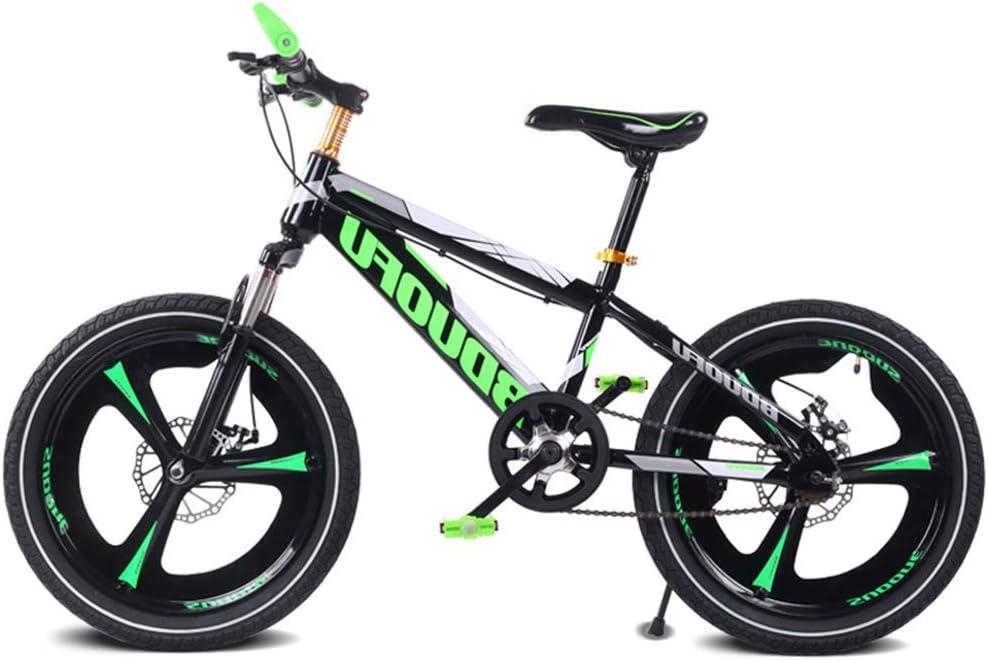 SJSF Y Bicicleta de Carretera, Bici de Carretera Gears Estudiante de Bicicleta de Freno de Disco Doble Reducir la vibración Bicicleta de niños de una Sola Velocidad 16/18/20 Pulgadas,20inch: Amazon.es: Jardín