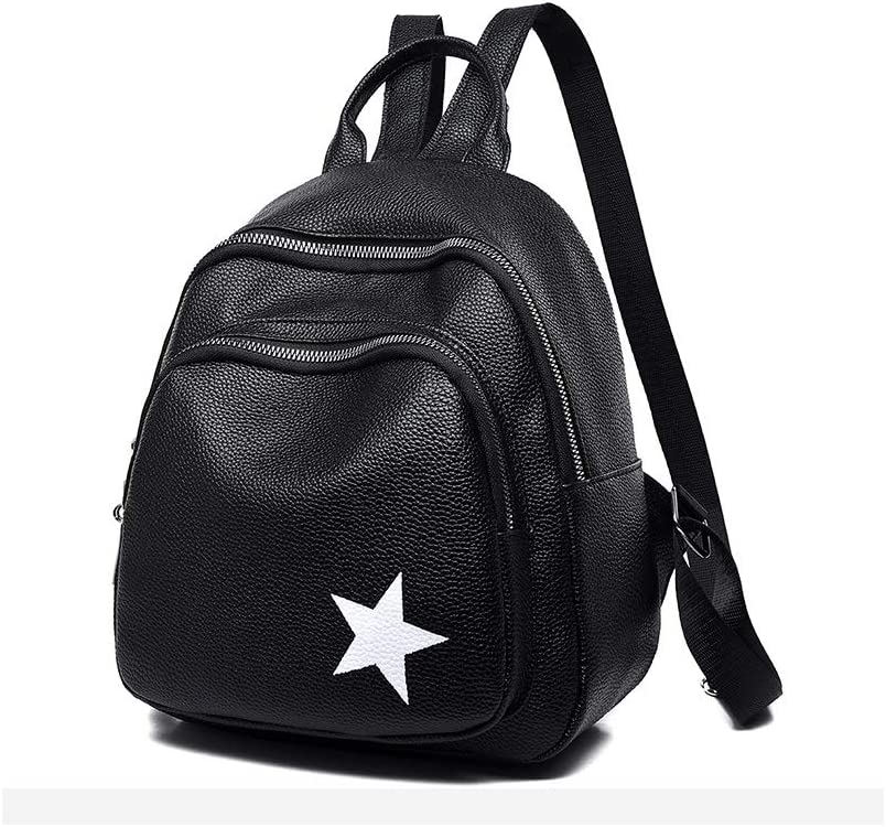 Travel Outdoor Haoyushangmao The Girls Versatile Backpack is Perfect for Everyday Travel Black//White. School Color : Black, Size : 24cm28cm11cm Fashion and Leisure Work
