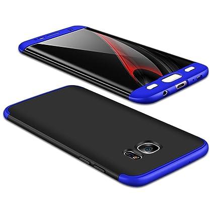 JMGoodstore Funda Galaxy S6 Edge,Carcasa Samsung S6 Edge,Funda 360 Grados Integral para Ambas Caras+Cristal Templado,[360°] 3 in 1Slim Fit Dactilares ...
