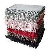 K-mover Fashon Winter Scarf Cashmere Wool Soft Warm Long Scarf Shawl Scarves Wrap (Coffee)