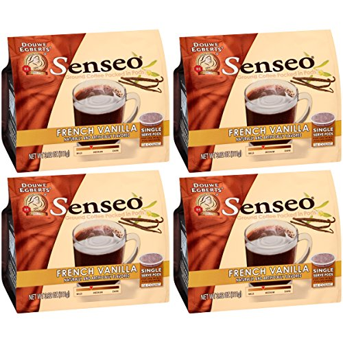 (Senseo Paris French Vanilla Coffee, 16-Count Pods (Pack of 4))