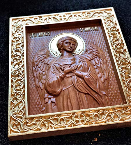 Personalized Angel of Protection Wooden Carved Religious gift religous home decor Christian Easter gift ()