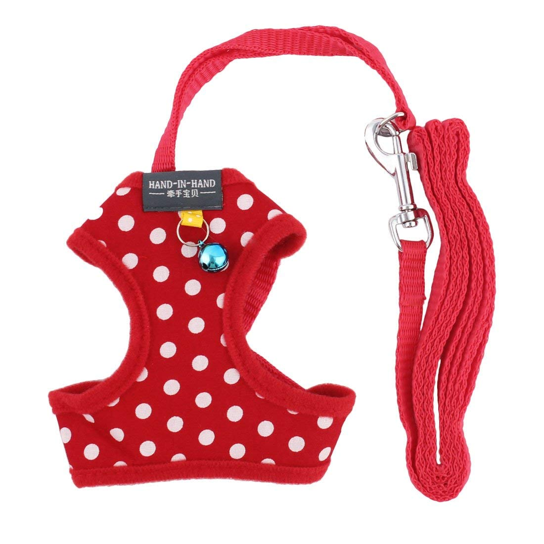 1Pc Nylon Pet Dog Adjustable Walk Training Harness Leash Rope Anchor Stripes 124cm Length