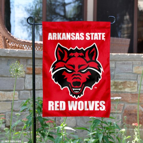 Arkansas State Red Wolves Garden Flag and Yard Banner