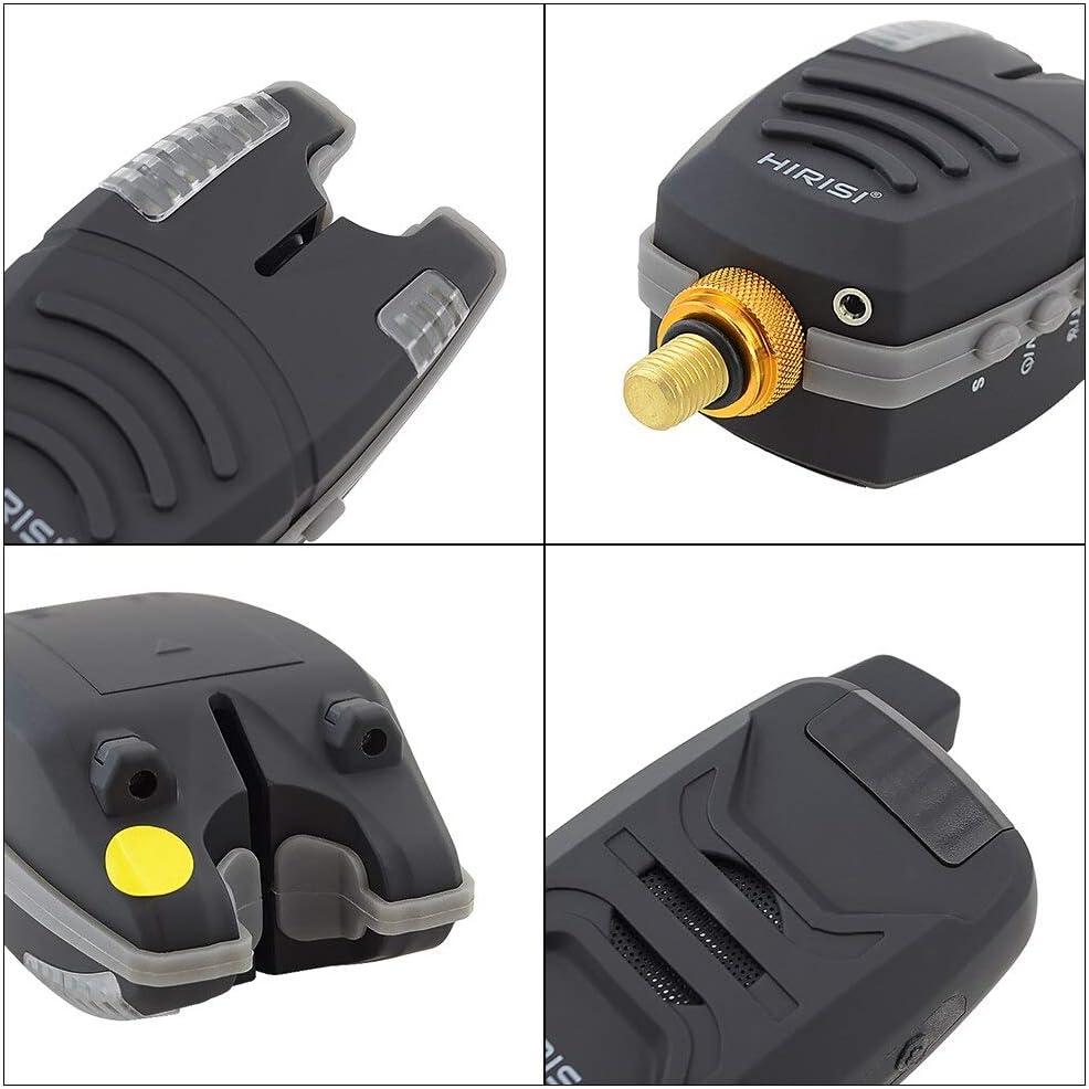 Waterproof Wireless Carp Fishing Bite Alarm Set With Snag Ear Bar 1+4 set