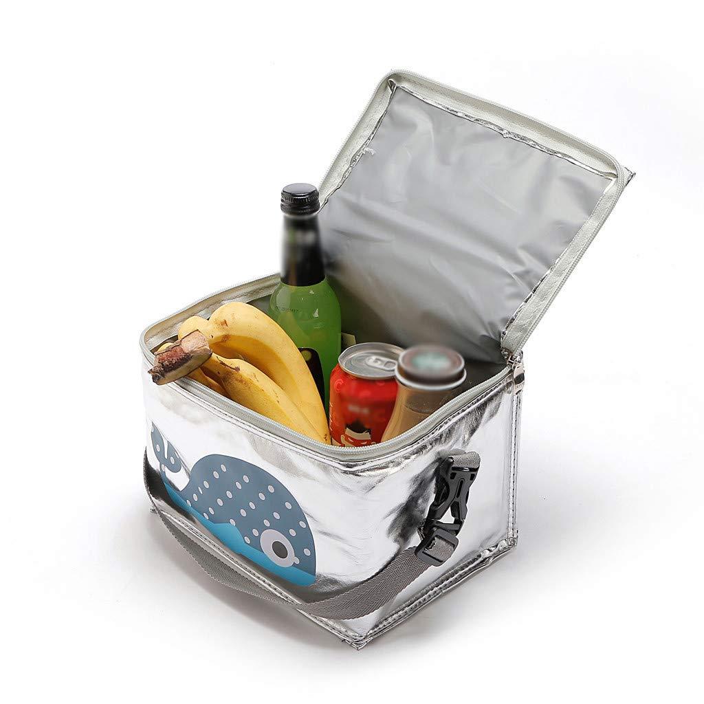 Buimin Sac /à lunch femmes hommes enfants glaci/ère adultes fourre-tout alimentaire Lunch Box avec sac isotherme simple pour enfant Portable Multi-usages Style de Voyage Trousse 6L