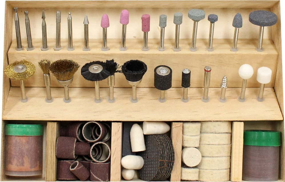138 Pc  New Rotary Tool Accessory Kit Fits Dremel