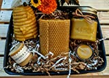 Beeswax Candle Gift Basket