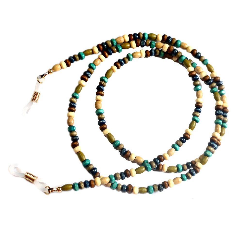 Bohemia Style Wood Ball Beads Chain Sunglasses Eyeglass Lanyard Holder Generic STK0113011819