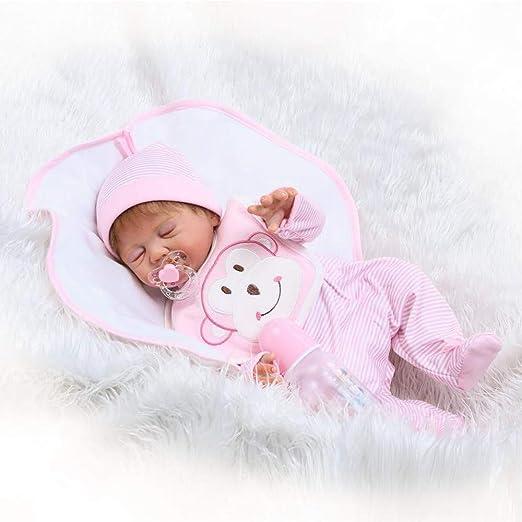 "Lifelike Reborn Baby Doll 22 /"" Doll Vinyl Kids Girl playmate Bambole rinascere"