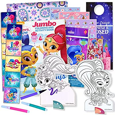 - Amazon.com: HUB Studios Shimmer & Shine Coloring Book With Stickers &  Take-N-Play Set - Shimmer And Shine Stickers, Play Pack, Door Hanger, And  More!: Toys & Games