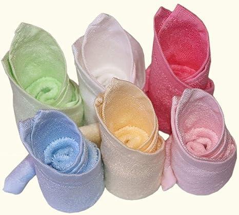 BLUESTAR bebé paños de bambú 100% Natural, suave absorbente toallas para bebé (para piel sensible, Baby Shower Regalos, 26 cmx26 cm (6-Pack): Amazon.es: Bebé