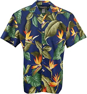 product image for Airbrush BOP - Men's Hawaiian Print Aloha Shirt - in Royal