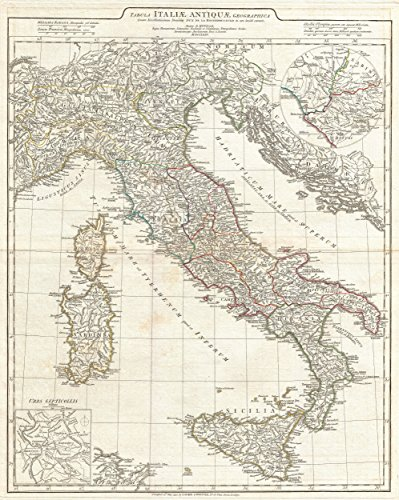 (Art Oyster Map of Italy in Roman Times, 1764-32