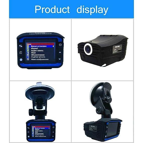 shewt Anti Laser HD 720P Detector de Radar de Coche Grabador de cámara DVR de Coche Modo Nocturno Gran Angular de 140 °, Grabación en Bucle, Sensor G Voz en ...