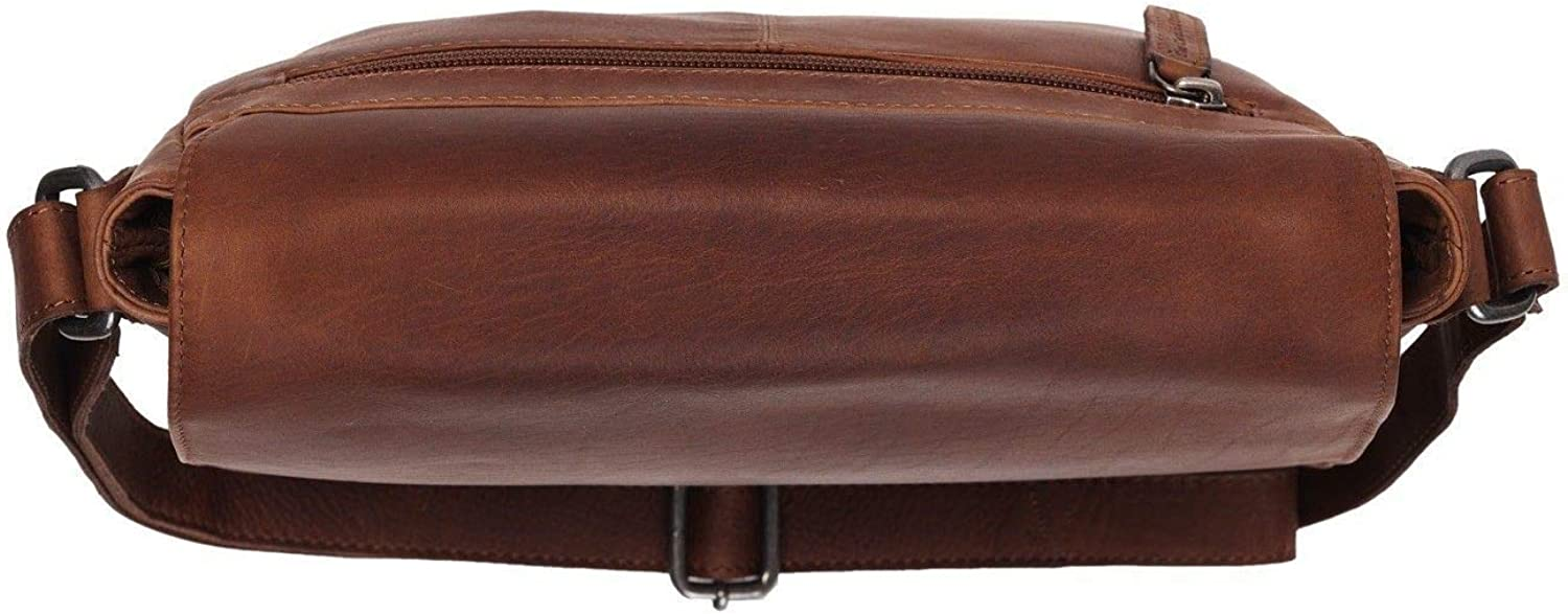 The Chesterfield Brand Saddle Bag Yves Cow Wax Pull Up Collection Cuir 23 x 26 x 7 cm (H/B/T) Femme Sacs à bandoulière (C48-0999) Brown