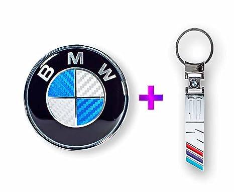 BMW 82 mm Carbono Fibra (Azul) Front Hood Emblema + BMW///M3 ...