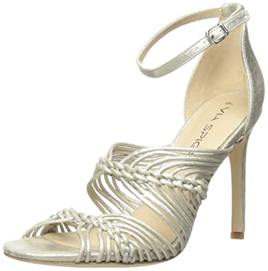 Via Spiga Women's Dorian Dress Sandal, Platinum, ...