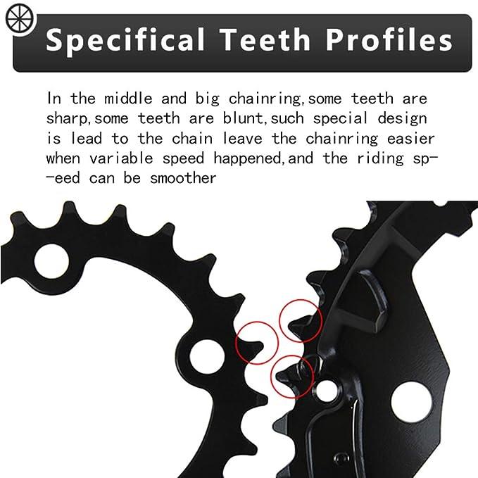 104//64BCD Crankset 170mm MTB Cycling Crank Narrow Wide 32-42T Single Chainring