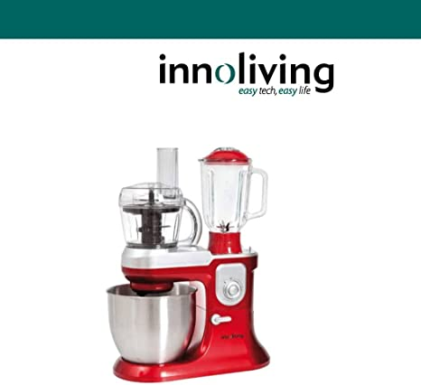 Top SHOP Innoliving INN-721 amasadora con Batidora y Robot de cocina, rojo: Amazon.es: Hogar