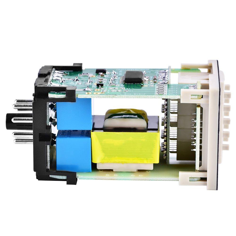 Digitales Zeitrelais TOPINCN DH48S-2Z 220V Doppeltes Zeitrelais mit Dual Time Display Sockelbasis