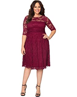 ef7f18bbb2 Kiyonna Women s Plus Size Special Edition Leona Lace Gown at Amazon ...