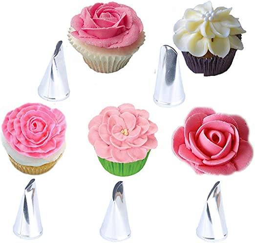 Wilton Flower Petal Icing Tip Nozzles for Piping Buttercream Cake Decorating