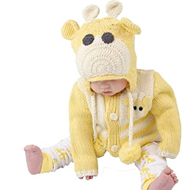 4865299c392 Amazon.com  Huggalugs Baby and Toddler Giraffe Hat or Sweater  Clothing