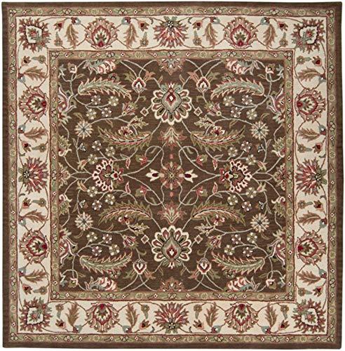 Surya Caesar 9'9 x 9'9 Square Hand Tufted Wool Rug in - Caesar Chocolate Cae1003