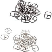 Blesiya Set Van 40 Riemgesp Voor Riembeugel Portemonnee DIY-accessoires Zilver + Zwart
