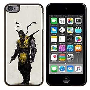 EJOOY---Cubierta de la caja de protección para la piel dura ** Apple iPod Touch 6 6th Touch6 ** --Enmascarado Ninja Warrior héroe