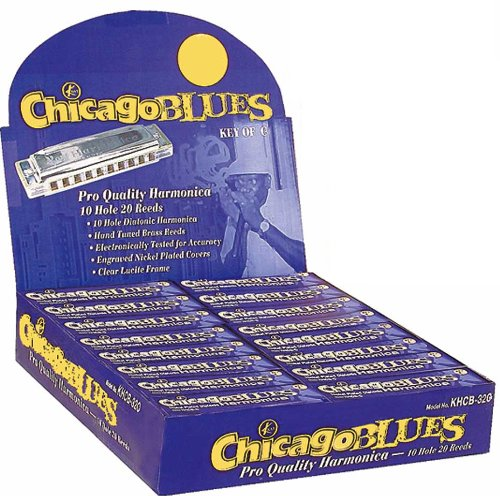 Chicago Blues KHCB32-G 32 Harmonica Party Pack, 32 Harps in the Key of G