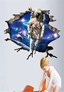 Aofu Space Astronaut 3D Stereo Effect Wall Sticker