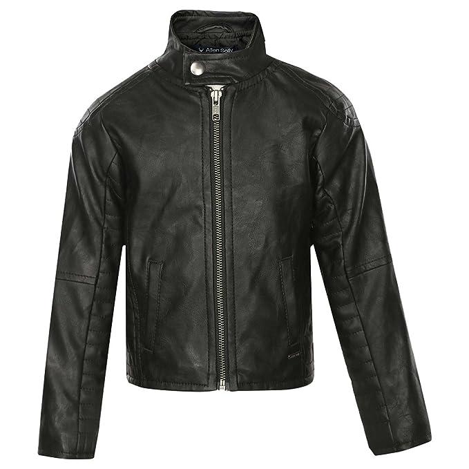 3803f3098 Allen Solly Junior Boys Mandarin Neck Solid Jacket (Black)  Amazon ...