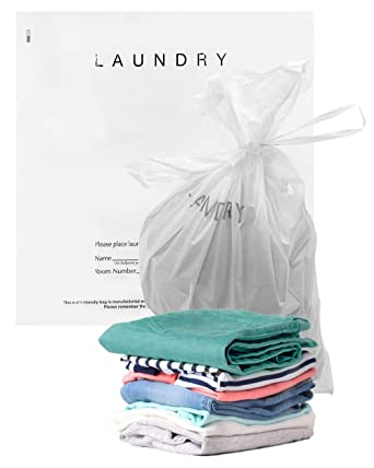 Amazon.com: APQ - Lote de 100 bolsas para colada de hotel ...