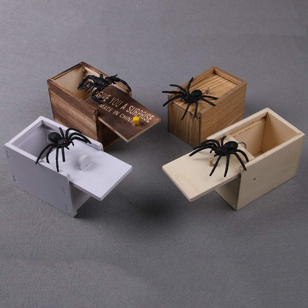 NUOBESTY Spinne Streich Box urkomisch Holzkiste Spielzeug Streich lustig Geld Geschenkbox /Überraschungsspielzeug f/ür Jungen M/ädchen Erwachsene