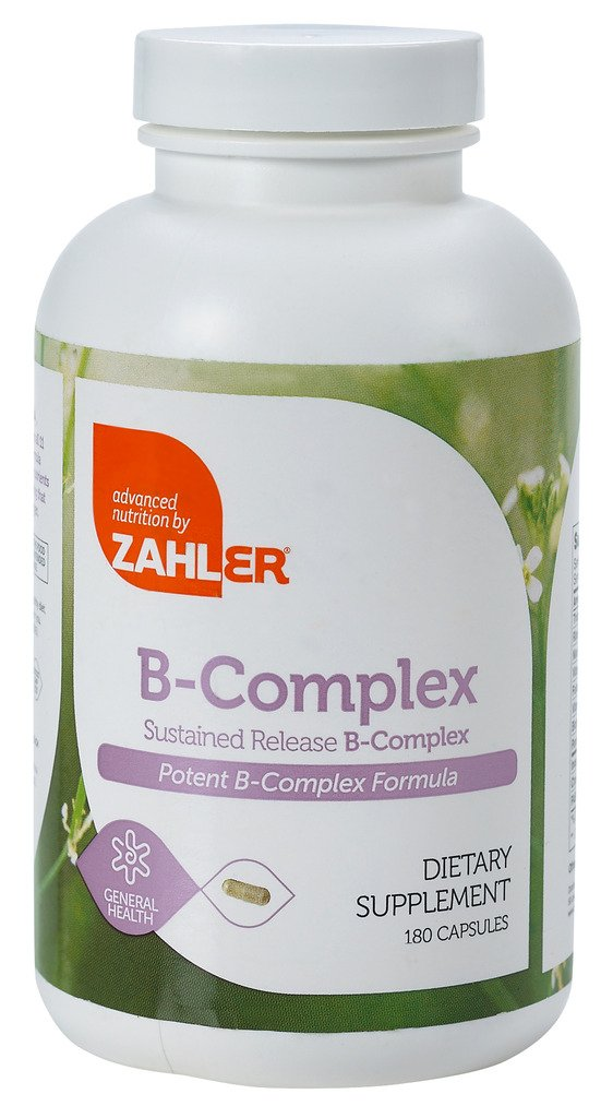 Zahler B Complex, All Natural Supplement Supporting Energy Production, 1 Pure and Potent B Complex Formula Containing all 8 Essential B Vitamins, Certified Kosher, 180 Capsules