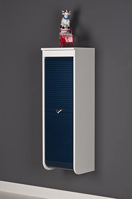 Dreams4home Gloss White Bathroom Cabinet Lacquered Medium Tall